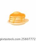 pancake, icon, vector 25607772