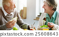 Senior Retirement Breakfast Meal Food Dining Concept 25608643