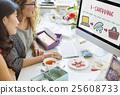 Online Shopping Web Shop E-shopping Concept 25608733