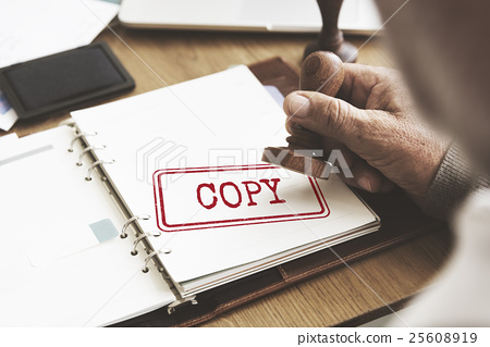 Copy Duplicate Print Scan Transcript Counterfoil Concpet 25608919