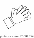 Clapping applauding hands icon, outline style 25609854