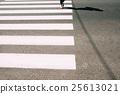 Pedestrian zebra with walking legs and asphalt 25613021
