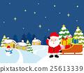 クリスマス プレゼントを届けに来たサンタ 25613339