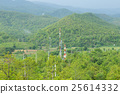 Telecommunications towers in forest 25614332