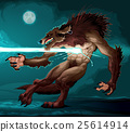 Werewolf is fighting with a lighting 25614914