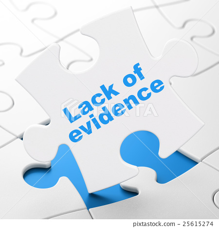 Law concept: Lack Of Evidence on puzzle background 25615274
