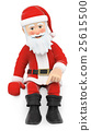 3D Santa Claus Santa sitting pointing down 25615500