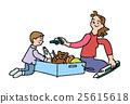 부모와 장난감 상자 25615618