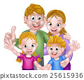 Cartoon Family 25615936