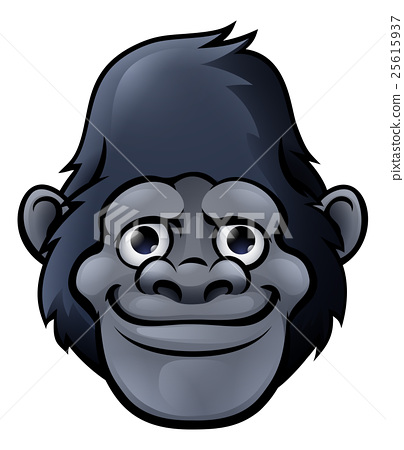 Cartoon Cute Gorilla Face 25615937