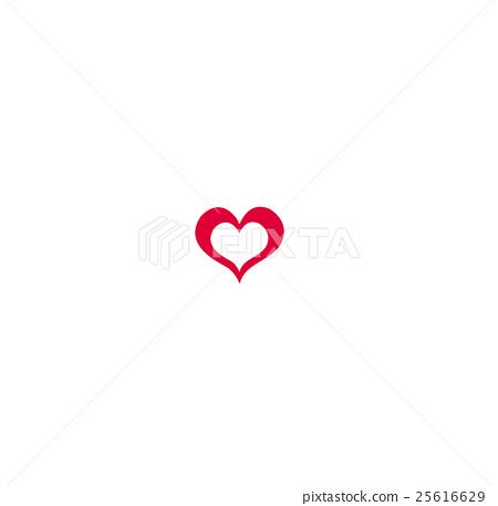 mini heart icon vector stock illustration 25616629 pixta