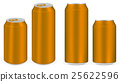 brown aluminium soft drink cans vector 25622596