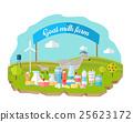 Organic Milk Farm Concept Web Banner 25623172