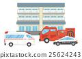 矢量 公寓 警車 25624243