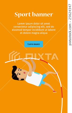 Summer Games Colorful Banner. Pole Vault Sport 25624347