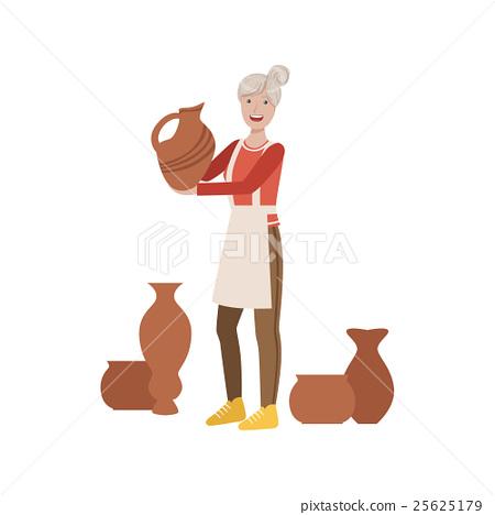 Potter, Creative Person Illustration 25625179
