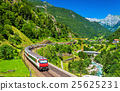 Intercity train at the Gotthard railway - 25625231