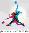 badminton player silhouette 25626924