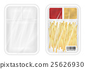 White polystyrene packaging mockup with food 25626930