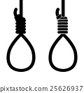 suicide hang rope icon sign 25626937