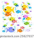 Fish Cartoon. Vector Colorful Fish 25627037