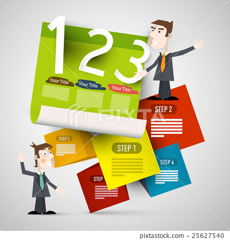 Infographic Paper Layout with Businessmen 25627540