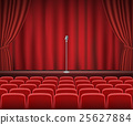 stage, curtain, theater 25627884