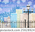 snow, vector, lamp 25628924
