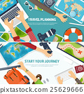 Travel and tourism. Flat style. World, earth map 25629666