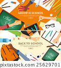 Back to school flat background. Online education 25629701