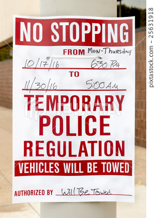 No Stopping Sign - USA 25631918