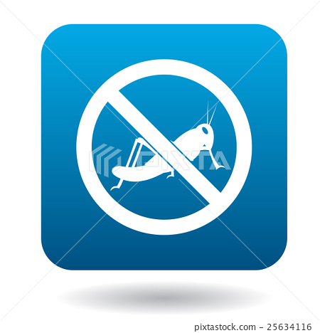 No locust sign icon, simple style 25634116