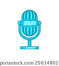 Retro microphone icon, cartoon style 25634802