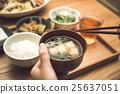 味增湯 碗 家常菜 25637051