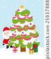 벡터, 선물, 산타 25637888