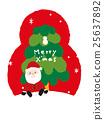 크리스마스, 벡터, 산타 25637892
