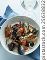 Delicious mussels with sauce 25638832