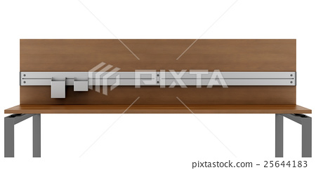 empty office workplace isolated on white  25644183