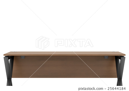 empty office workplace isolated on white  25644184