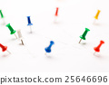 Colorful paper pins attached 25646696