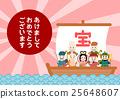 新年卡寶藏七幸運神插圖 25648607