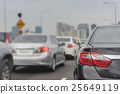 traffic jam with row of cars 25649119