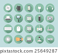 twenty flat style computer icons 25649287