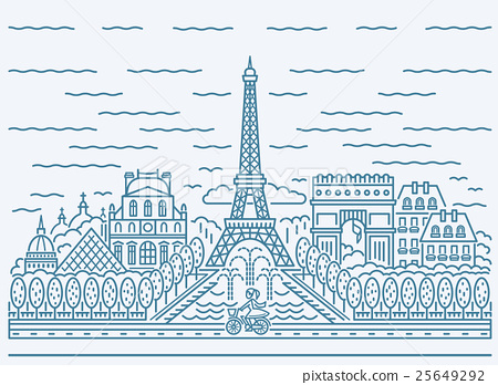 Paris city skyline view 25649292
