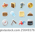 Sticker icons for personal belongings 25649376