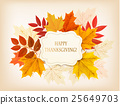 Happy Thanksgiving background with autumn leaves  25649703