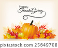 Thanksgiving background with autumn fruit  25649708