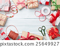 Christmas background with gift boxes 25649927
