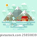 Vector nature winter landscape illustration 25650839
