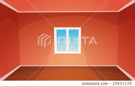 Red Empty Room 25651170